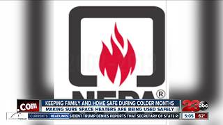 Fire department warns about the safety surrounding space heaters - Video