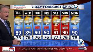 Latest Weather Forecast Monday 6 p.m. - Video