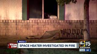 Space heater investigated in Mesa house fire