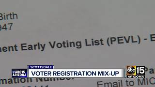 Scottsdale woman has voter registration mixup - Video