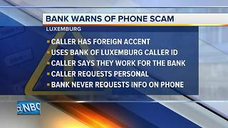 Bank of Luxemburg warns customers of 'spoofing' phone scam - Video