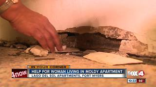 Help for Woman Living in Moldy Apartment