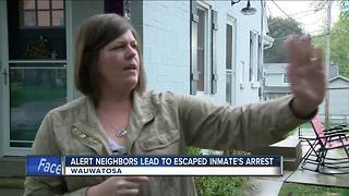 Escaped inmate arrested thanks to alert neighbors - Video