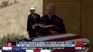 Fallen WWII Marine buried 74 years after death - Video