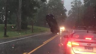 Car In Weird Position Confused Drivers On Connecticut Road - Video