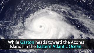 NASA releases video of 3 hurricanes from space | Rare Extreme Weather - Video