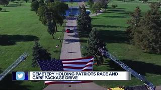 Patriots Race and care package drive at White Chapel cemetery - Video