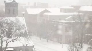 Snow Blankets Upstate New York - Video
