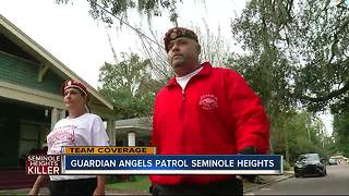 Guardian Angels patrol Southeast Seminole Heights after linked homicides - Video