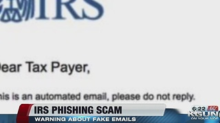Tips to recognize phishing scams from the IRS - Video