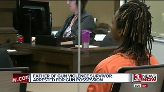 Father of gun violence survivor arrested for gun possession