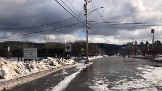 Ice Jams Swell Pemigewasset River, Cause Flooding in Plymouth - Video