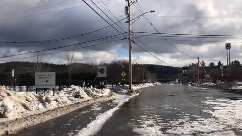 Ice Jams Swell Pemigewasset River, Cause Flooding in Plymouth