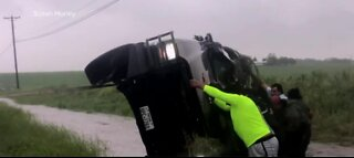 Severe storms hit TX and LA hard
