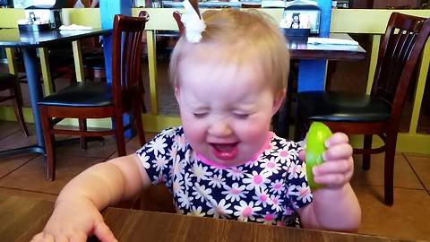 Baby eats lime... and loves it!