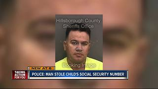 Police: Man stole child's social security number - Video