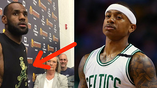 LeBron James TROLLS Isaiah Thomas and Celtics with Leprechaun Shirt at Practice