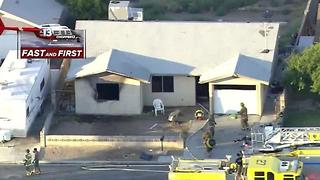 Fire rips through home near Nellis, Charleston - Video