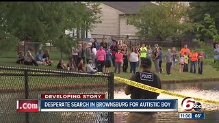 8-year-old autistic, non-verbal child missing in Brownsburg - Video