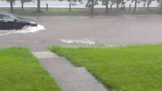 Roads Flood in Clintonville After Heavy Rains, Severe Storms