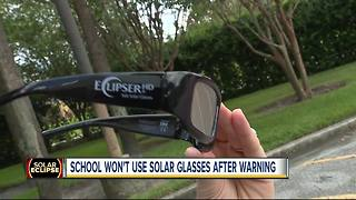 Students at Sarasota school can't watch eclipse after admins order unverified glasses - Video