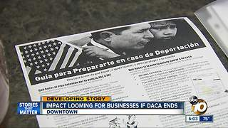 Impact looming for San Diego businesses if DACA ends - Video