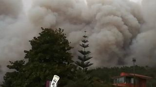 Plumes of Smoke Rise Above Galicia as Wildfires Rage - Video
