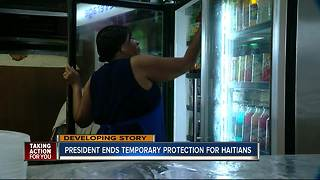 President ends temporary protection for Haitians - Video