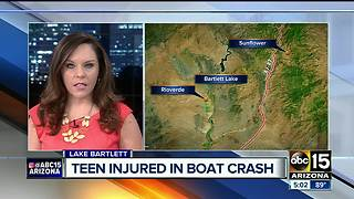 MCSO: Teen seriously injured in boat accident at Bartlett Lake - Video
