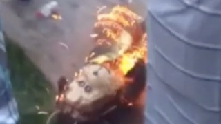 Epic Piñata Fail Ends with Backyard Fire