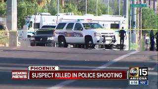 Suspect killed in officer-involved shooting in south Phoenix