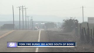 York Fire burning in south Ada County