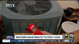 What are your renters rights if your air-conditioning goes out?