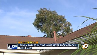 Family forced from home after multiple rock attacks