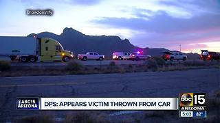Woman killed, thrown from car in Eloy - Video