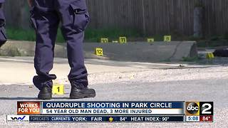 Police: Four shot in Park Circle, 54-year-old man dies