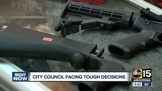 City council facing tough decisions on several controversial issues - Video