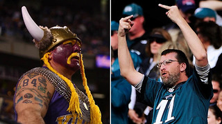 Vikings Fans Plotting REVENGE Against Eagles Fans at Super Bowl 52 in Minnesota - Video