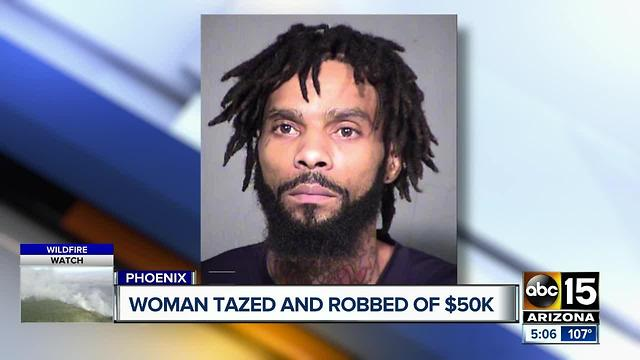 woman tased and robbed of 50 000