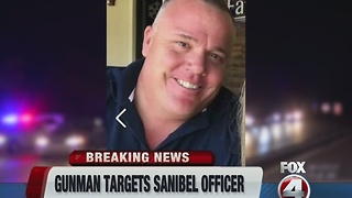 Sanibel police officer Jarred Ciccone shot during traffic stop - Video