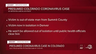 First coronavirus case in Colorado