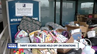 Thrift Stores: Please hold off on donations