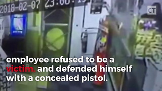 Concealed Pistol Saves Gas Station Worker's Life - Video