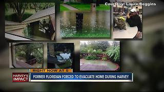 Former Floridian forced to evacuate home during Hurricane Harvey - Video
