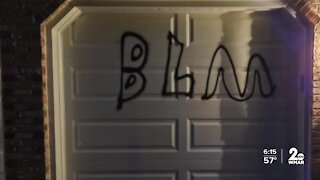 Bel Air homes vandalized with 'BLM' and anti-Trump graffiti