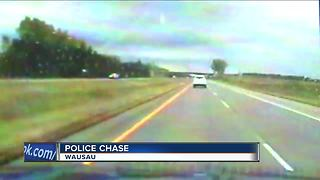 Dash-cam video captures high speed chase in Wausau - Video