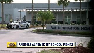 Wharton High School holds parent meeting to address school fights and increased police presence