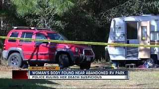 Suspicious death investigation underway after body is found in abandoned RV park in Hernando Co. - Video