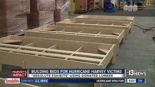 Building beds for Hurricane Harvey victims - Video