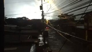 Lights Flash as Fire Breaks Out at Costa Rica Electricity Substation - Video
